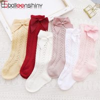 Chaussettes Balleenshiny espagnol pour confort pour enfants bouche bouche bernière bébé filles chaussettes bowknot coton bébé enfants 6Couleurs