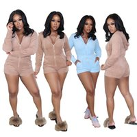 Mulheres Plus Size Jumpsuits Macsuits Fall Winter Roupas Household Cor Natural Leggings Bodysuits Sportswear Sexy Club Elegante 0630