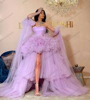 새로운 패션 안녕하세요 얇은 얇은 튤립 댄스 드레스 얇은 푹신한 이브닝 가운 여성 플러스 사이즈 솜털 미인 드레스