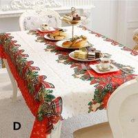 Nappe de Noël Jingle Bell Impression Table de table Table à manger Table de la poussière pour la décoration de Noël Fournitures1
