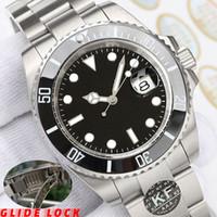 Glide Lock Block Moda Donna Meccanica Movimento Automatico Uomini GMT Sweep Hand Mano Ceramica Donne Diamond Mens Designer Guarda orologi orologi orologi da polso