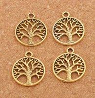 Hayat Ağacı Charms Kolye Santiği Gümüş / Bronz / Altın Takı
