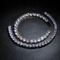 Hiphop armband mode goud zilver kleur ketting armband luxe mannen vrouwen 3mm 4mm 5mm 6mm bling zirkoon tennis armbanden