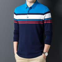 Herren Polos 2021 Stil Hohe Qualität langarm Hemd T-Shirt Business Casual Mode 3XL Frühling