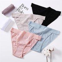 Femmes Coton Culotte Sexy Basse Taille Sous-vêtements Pour Femelle Lingerie Sleepants Slip en relief creux 6 Solid Color1