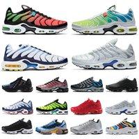 Sıcak Satış Erkek TN Artı Kadın Koşu Ayakkabı Eğitmenler Üçlü Siyah Beyaz Hiper Mavi Oreo Duman Gri Camo Dünya Çapında Açık Spor Sneakers