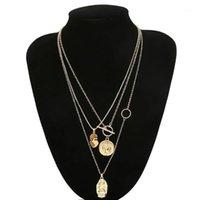 Moda Birden Çok Katmanlar Kadınlar Için Çapraz Kolye Charm Altın Renk Chokers Kolye Boho Collares Kadın Parti Jewelry1