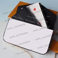 Poker Druck Felicie zum Verkauf Brieftasche mit Karteninhaber 3 stücke Set Spiel auf Kupplung für Frauen Handtasche Geldbörsen mit Kasten
