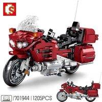 Sembo Technic دراجة نارية سيارة مواجه قبالة تحميل الأوكوكي الخالق خبير اللبنات دراجة نارية سرعة سباق السيارات الطوب اللعب X0102