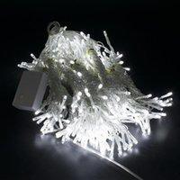 Nouveaux styles 18m x 3m 1800-LED White White Light Romantique De Noël Mariage En plein air Haute luminosité Décoration Rideau Light String Blanc