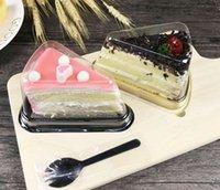 Neue Ankunft Plastik klar Einweg Kuchenbox Einzelne Individuum 8-Zoll-Dreieck Kuchenboxen Lebensmittel Dessert Verpackung Großhandel DHL