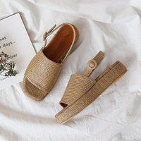 Meefaini 2019 verão novo tecido feminino sapatos à prova d 'água plataforma espessa muffin sandálias moda aberta toe sandálias romanas1