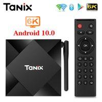 TANIX TX6S Android 10 스마트 TV 박스 Allwinner H616 4GB 32GB 64GB TX6 셋톱 박스 지원 4K 2.4G 5G 듀얼 밴드 와이파이 2G 8G