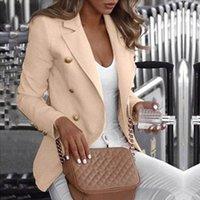 Bouton Blazer Blazer Femme 2020 Travail de travail Veste Femme Bureau Dame Formel Femmes Blazers et vestes Blazer Femme Femme 5XL1