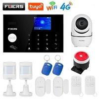 Fuers WIFI 4G Alarm Sistemi Kablosuz Ev Hırsız Güvenlik Alarm Sistemi Tuya Uygulama Kontrol Siren Hareket Dedektörü PIR Duman Sensörü1