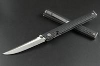 Ceo 7096 Coltello da tasca pieghevole EDC: coltello da Gentleman a basso profilo Gentleman Trasporto di tutti i giorni, lama satinata, IKBS Privolo con cuscinetto a sfera, tasca profonda
