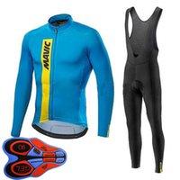 Erkekler Mavic Takım Sonbahar Bisiklet Forması Takım Elbise Uzun Kollu Açık Spor Yol Bisiklet Üniforma Bisiklet Kıyafetleri Y20092802