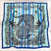 """Écharpes de la tache Écharpe Tête de soie féminine Foulards pour Mesdames Main Écharpe Écharpe 90 Foulard Luxe """"Jungle Love"""""""