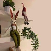 65 سنتيمتر حزب الديكور لطيف عيد الفصح الأرنب لينة محشوة الحيوان أفخم أرنب لعبة LJ201126