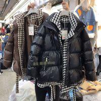 2020 hiver NOUVEAU Épaississement chaud épaississant de poule de poule de poule de poule en faux 2 pcs en coton en coton à moyenne manteau de stationnement long