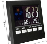 Ev Renk Ekran Termometre Elektronik Hava Dijital Ekran Çok Fonksiyonlu Saat Ev Dekor Gadgets Higrometre Güzel 9 5ms F2