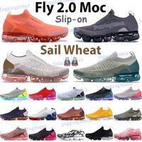 Top Hombres Mujeres Fly 2.0 MOC Zapatillas para correr Sail Wheat University Red Fushsia Blast Black Jade Hot Punch Light Cream Sneakers