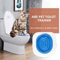 Katze Toilette Training Kit Pet Poop Training Sitzbeihilfe Katzen Sit Wurf Box Tray Professional Trainer Für Katze Kätzchen Human Toilette 201109