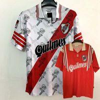 Top retro t shirts 1995 1996 Jerseys de fútbol de la placa del río Retro 95 96 Camisa de fútbol S-2XL