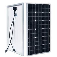 Panneau solaire 100W 12V 18V PHOTOVOLTAIC POWER STOCKAGE CHARGEMENT DE BATTERIE POUR VR Navires Navires Street Light, etc. Nouveau produit