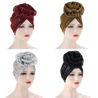 Parlak İpek Türban Müslüman Saç Delme Bezi Çiçek Bandanalar Moda Bayan Katı Renk Bandı Yüksek Kalite 8 3QD M2