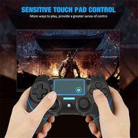 뜨거운 판매 PS4 컨트롤러 무선 게임 컨트롤러 플레이 스테이션 4 / PRO / SLIM / PC 및 듀얼 진동 및 오디오 기능이있는 노트북