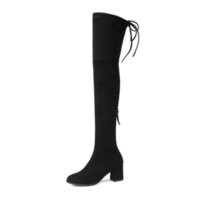 Eu usei 2020 mulheres com zíper sexy inverno no meu joelho alto-salto alto dedos quadrados senhoras tamanho 34-43 botas