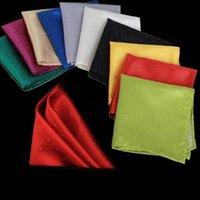 Moda Jacquard Spot Hanky Handkerchief 21 Color Kerchief Traje de negocios Bolsillo Pañuelo Accesorios de Moda Regalo de Navidad LLS495