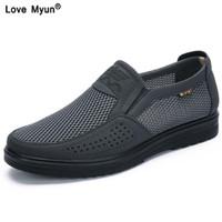 Erkek rahat ayakkabılar erkekler yaz tarzı örgü daireler erkekler için loafer creepers rahat high-end ayakkabı çok rahat