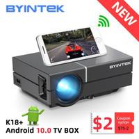 BYINTTEK K8 HD 720 P 150 inç Ev Tiyatrosu Taşınabilir LED Video Mini Projektör (İsteğe Bağlı Android 10 TV Kutusu) Telefon için 1080 P 3D 4K1