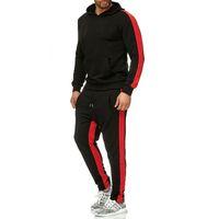 Homem Nrew Roupas 2020 Sweatsuit Mens Tracksuit Hoodies Calças Mens Roupas Suéter Pullover Mulheres Casual Esporte Jogging Suor Suor