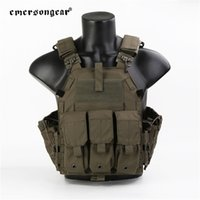 Emersongear a rilascio rapido 094K Plate Carrier Mag Pouch Molle System Vest for Tactical Airsoft Hunting CS Game 201215