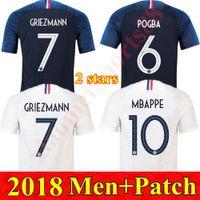 2018 Casa Away Francia Maglie di calcio Francia Mbappe Griezmann Mens Jersey Uniformi Pogba Ndombele Kante Uomo Camicia da calcio