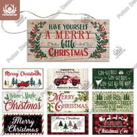 Metal Pintura Putuo Decoração 2021 Ano Decoração de Árvore de Natal Casa Sinal de Sinal de Madeira Para Ornamento de Natal Navidad Presente