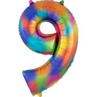 40 Inç Gökkuşağı Renk Büyük Numarası Alüminyum Film Balonlar Numarası Balon Doğum Günü Partisi Süslemeleri Balon Kullanımlık Balon CCB3840
