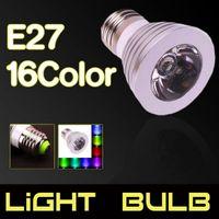 뜨거운 판매 E27 3W 85V-265V 16 색 원격 제어 Dimmable LED 스포트 라이트 새롭고 고품질 LED 스포트 라이트 실내 조명