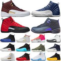 12 12s Jumpman University Mens Baloncesto Zapatos de baloncesto de oro Piedra azul Gripe Royal El Master Dark Grey Men Athletic Sports Sports Steekers Tamaño 40-47