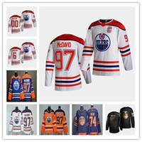 Connor McDavid Edmonton Oilers 2021 Reverse Retro Jersey Adam Larsson Leon Draisaitl Ethan Bear Ryan Nugent-Hopkins Dominik Kahun Turris Kailer Yamamoto Mcleod