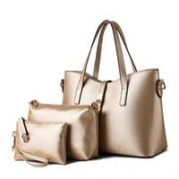 HBP محفظة حقيبة يد بو الجلود حقيبة الكتف 3 قطعة / المجموعة المرأة كيس مركب جودة عالية السيدات حقائب اليد حقائب اليد