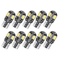 T10 Araba LED İç Okuma Lambası W5W 168 194 Oto Kapı Işıkları Yan Marker Plaka Işık LED Ampul 12 V DC Sıcak Beyaz