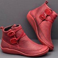 Vendita calda STS Stivali da donna autunno scarpe piatte in pelle Autunno Fashion Martin Stivali corti femminili retrò antiscivolo scarpe da donna casual Zapatos