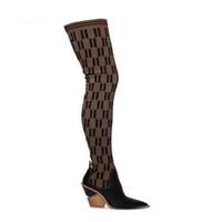 Роскошь 2021 Открытый Сексуальная мода Женские Трикотажные Носки Сапоги Бедра Высокий Дышащий Эластичный Заостренный Носок Короткий КОРОТКИЙ ОБУЧЕНИЕ008