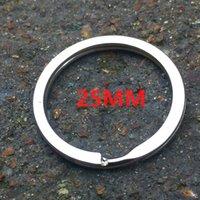 자동차 스테인레스 스틸 플랫 더블 레이어 체인 철제 키 작은 링 액세서리