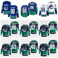 Reverse Retro 2021 Vancouver Canucks Gelo Hóquei 96 Adam Gaudette 57 Tyler Myers Jersey 20 Brandon Sutter 22 Daniel Sedin 33 Henrik Sedin