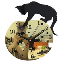 2020 Real Sale Wanduhr Acryl Pastoral 3D Große dekorative Aufkleber Uhren Reloj de Pared Horloge Murale Wohnzimmer Quarz